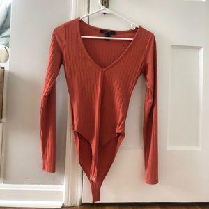 Long sleeved ribbed bodysuit from Forever 21